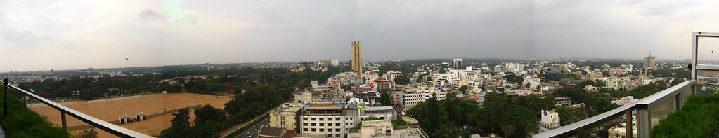View from the 13th floor a panoramic view of bangalore for 13th floor ebony bangalore