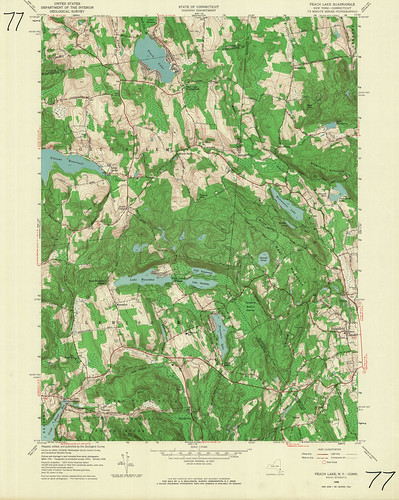 Peach Lake Quadrangle 1958 - USGS Topographic Map 1:24,000 | by uconnlibrariesmagic