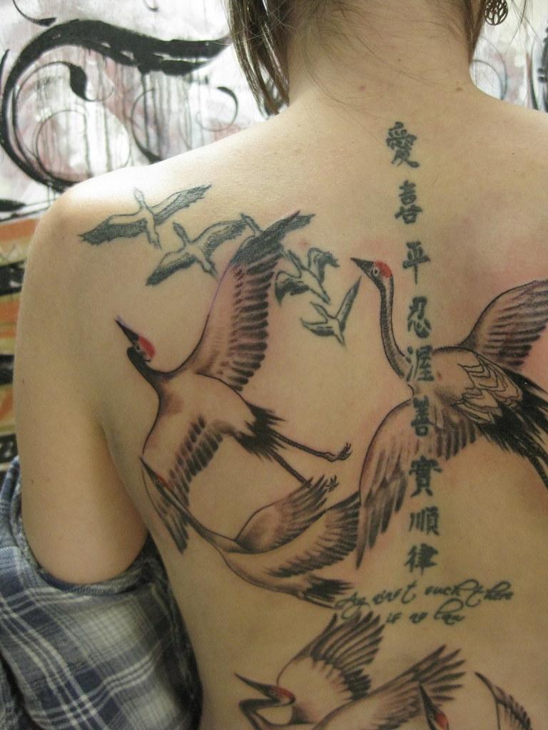 Japanese Crane tattoo | Custom tattoo by Kai Smart Primary ... - photo#40