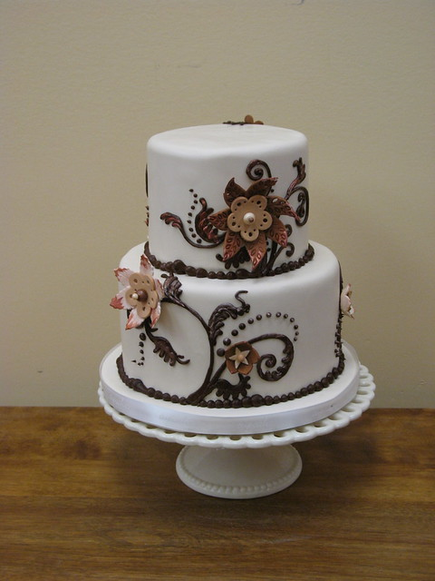Two Tier Chocolate Cake Berries
