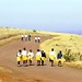 School children walk long distances to and from school