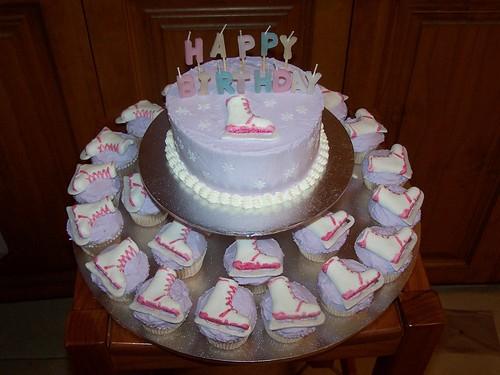 Ice Skate Cupcake Cake