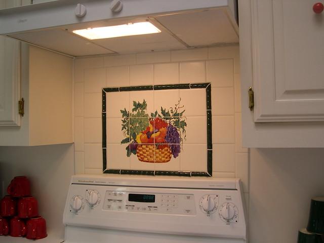 ceramic tile backsplash with decorative panel flickr photo sharing