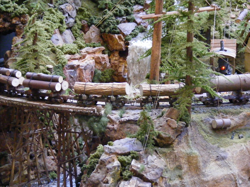 Twin Falls Logging Mining Railroad On30 Layout By
