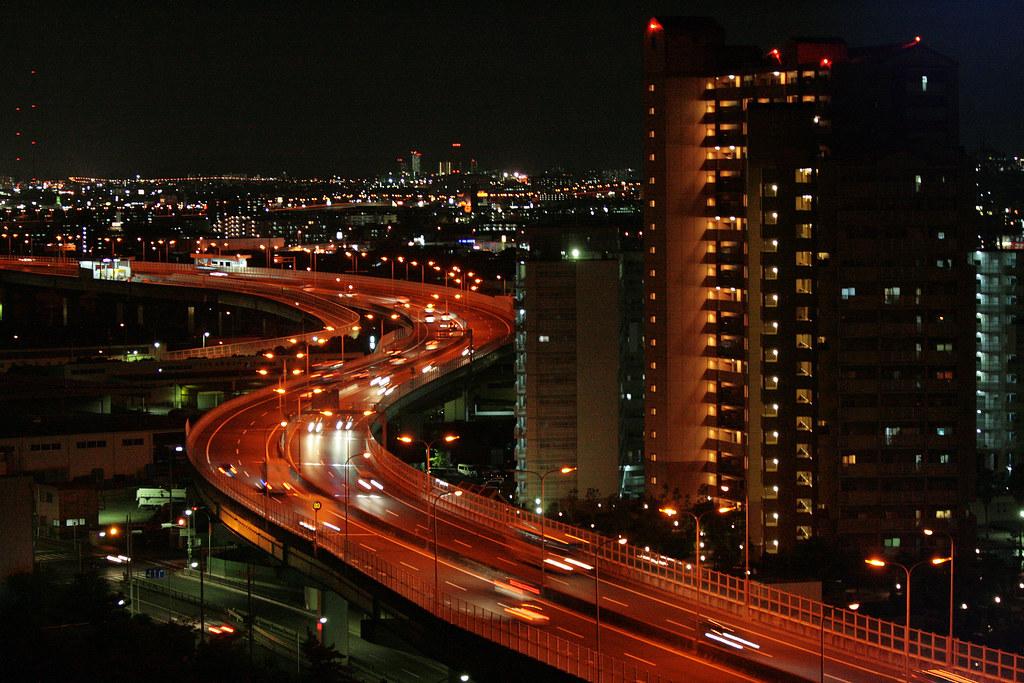 大阪湾岸線 | This red snake is the Osaka Coastal Highway (the ...
