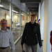 Professors Bob Bleicher and Luda Popenhagen on their way to the 2009 Celebration of Faculty Accomplishments