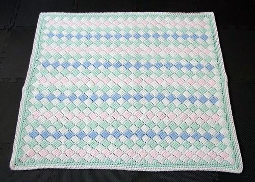 Tunisian Crochet Baby Blanket Pattern : Tunisian crochet baby blanket - full size Pattern ...