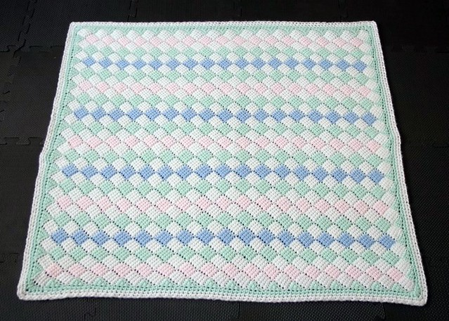 Tunisian crochet baby blanket - full size | Pattern - basic … | Flickr