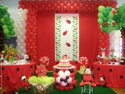 Ladybug party decoration flickr photo sharing for Baby shower decoration ideas blog