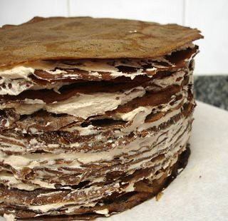 Darkest chocolate crepe cake / Bolo de crepes de chocolate | by Patricia Scarpin
