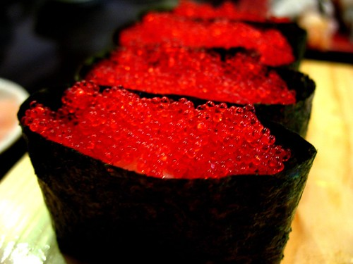 126 flying fish eggs sushi note all you can eat sushi for Flying fish roe
