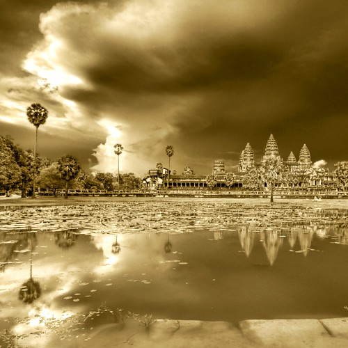 Evening Night Bathing Angkor Wat under Impending Storm | by Stuck in Customs