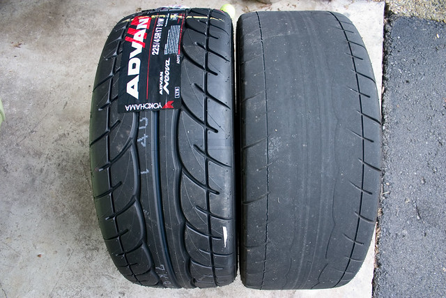 Picture Of Tire Tread >> Worn out Yokohamas | Before/after shot of my Yokohama AD07's… | Flickr