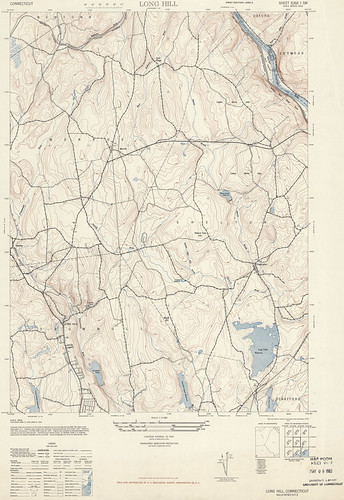 Long Hill Quadrangle 1947 - USGS Topographic Map 1:31,680 | by uconnlibrariesmagic