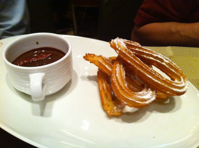 Churros with spicy chocolate sauce   Flickr - Photo Sharing!