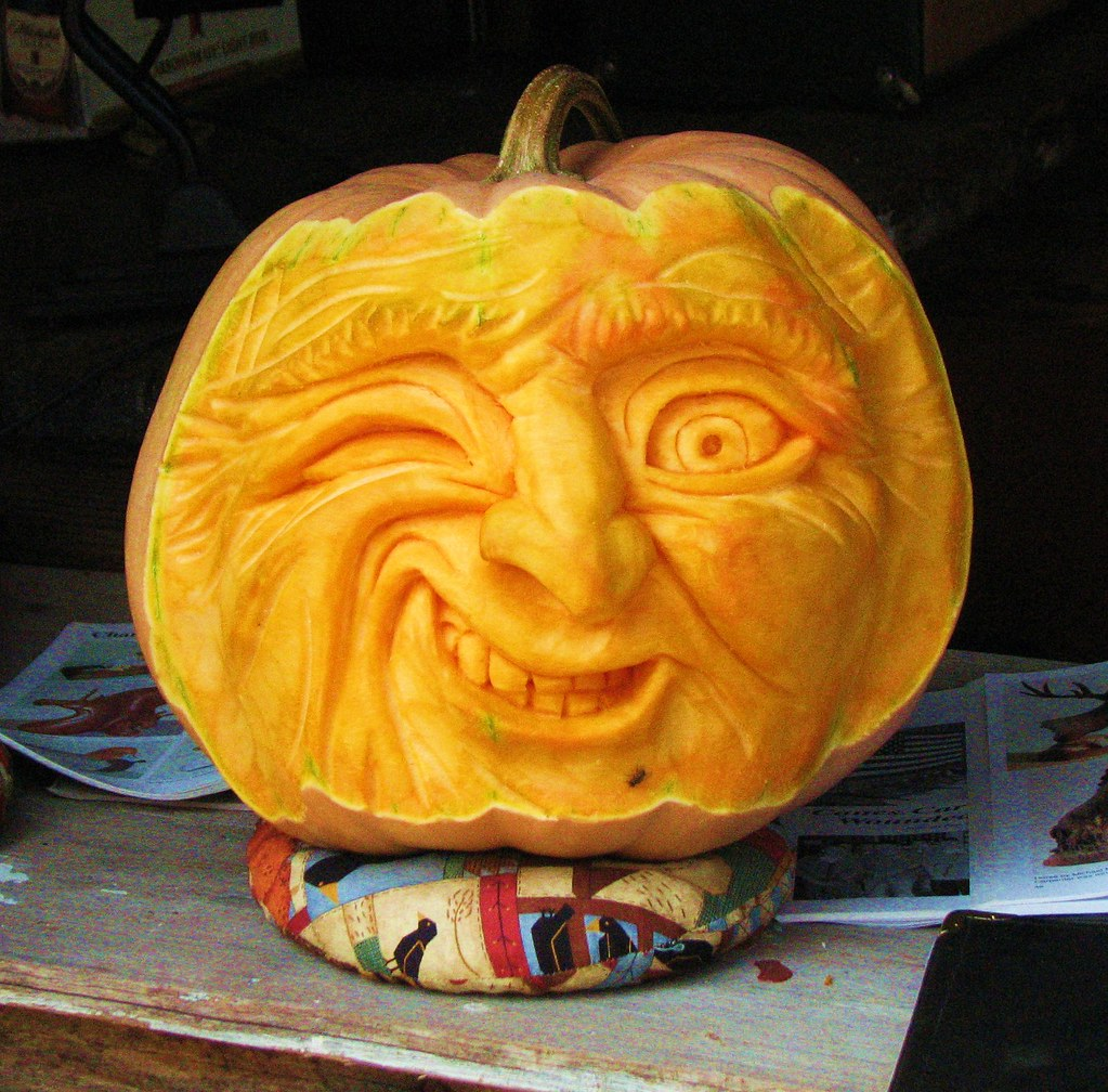 Funny Carved Pumpkin One Of The Many Examples Of The
