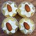almond-orange cupcakes with citrus cream cheese frosting