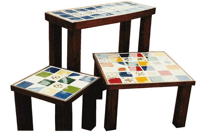 Juego de mesas con azulejos cactus tienda galeria flickr - Mesas con azulejos ...