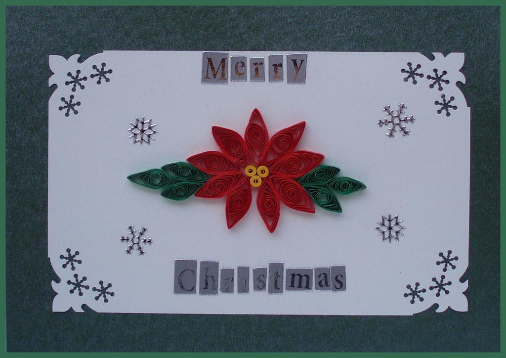 Handmade Christmas card | Handmade poinsettia Christmas ...