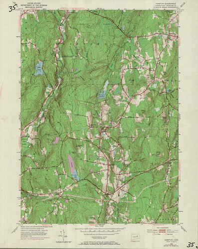 Hampton Quadrangle 1970 - USGS Topographic 1:24,000 | by uconnlibrariesmagic