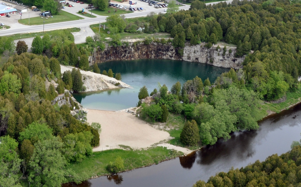 View Of Elora Quarry And The Large Beach Grand River