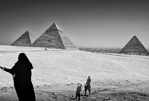 East meets West at the Pyramids of Giza, Egypt | by MarsW