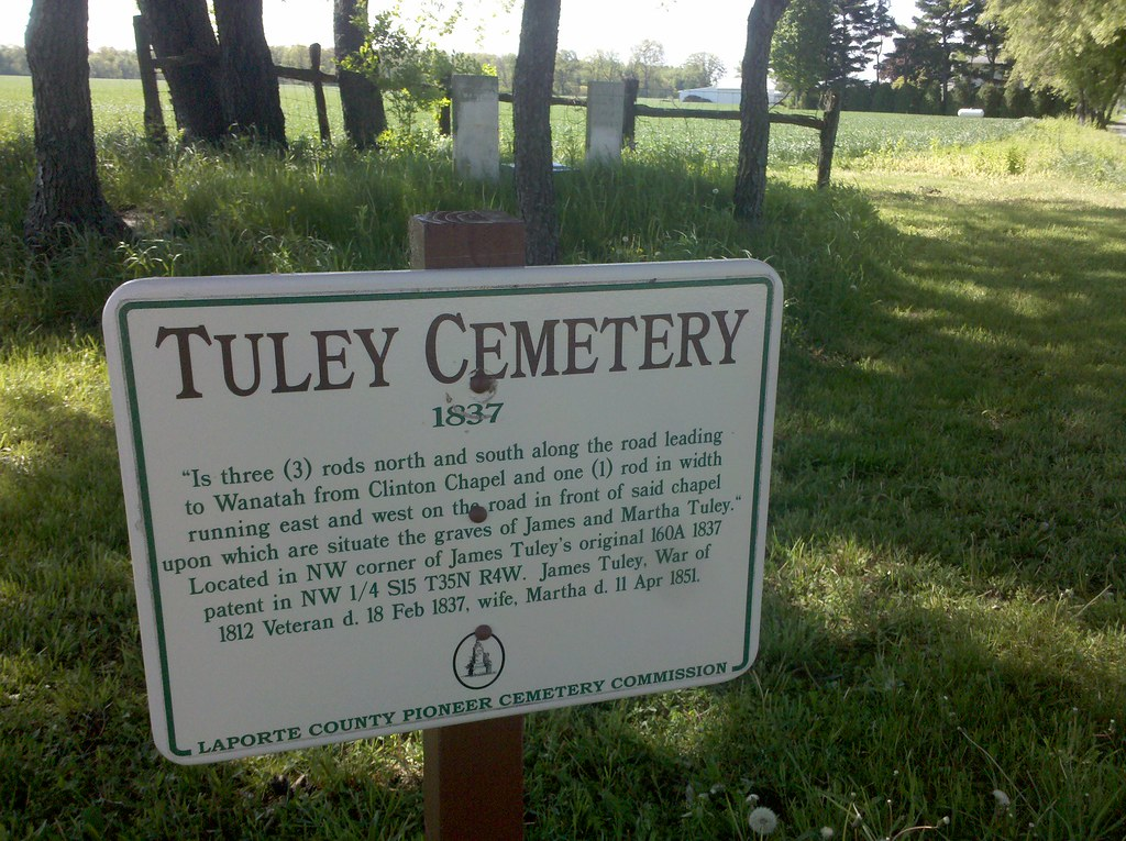Tuley cemetery brought to you by the laporte county for Laporte county jobs