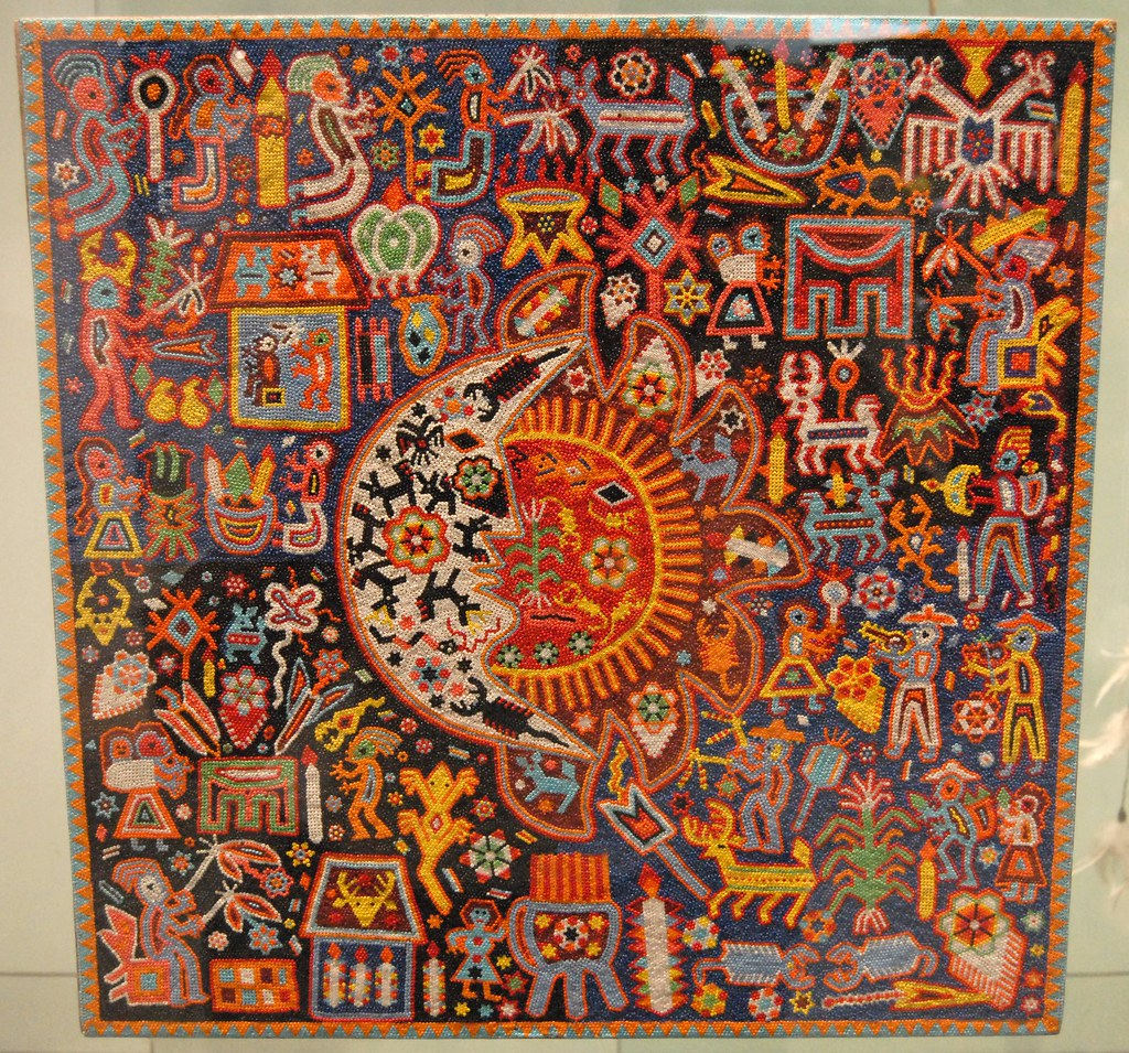 huichol bead painting this huichol work of is done