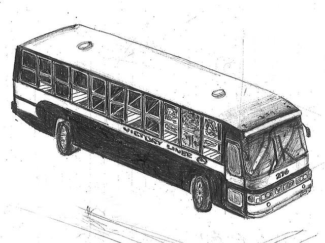 Bus Drawing of VLI in my Notebook | Nagandahan ako sa ... Bus Drawing