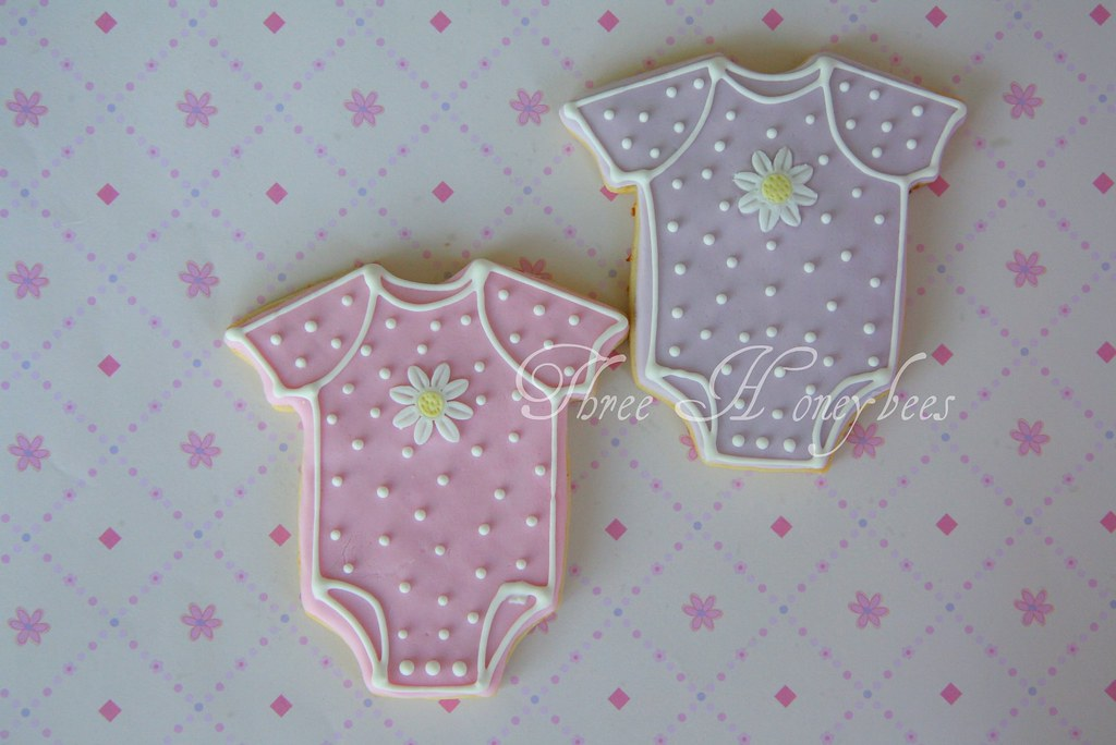 Baby Onesie Cookies These Are Part Of A Set I Made For A