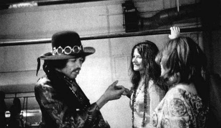 Jimi hendrix of the experience greets janis joplin of big for Naked fish sf