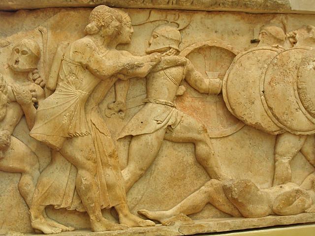 Apollo artemis vs giants siphnian treasury n frieze