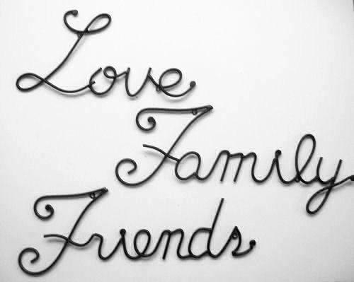 "LOVE FAMILY FRIENDS | LOVE measures 7"" H X 13"" W FAMILY ...  LOVE FAMILY FRI..."