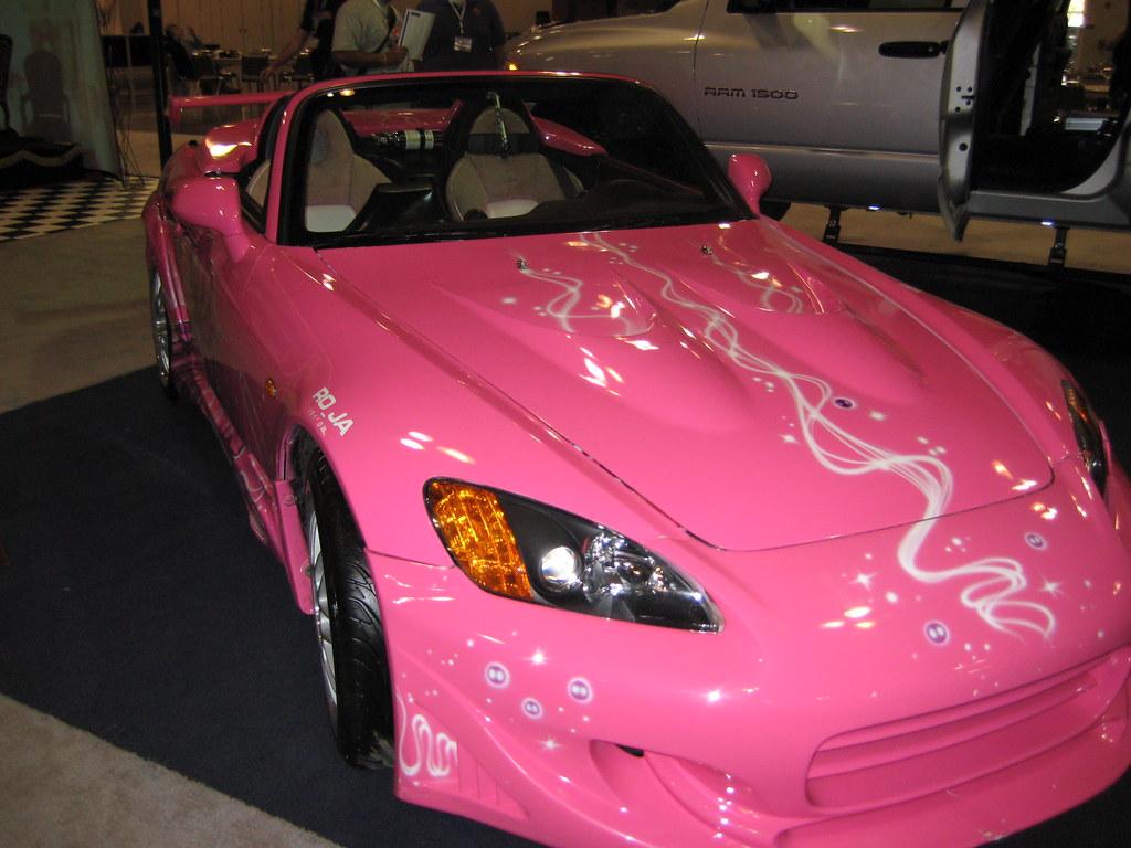 shiny new pink sports car thegreentax flickr. Black Bedroom Furniture Sets. Home Design Ideas