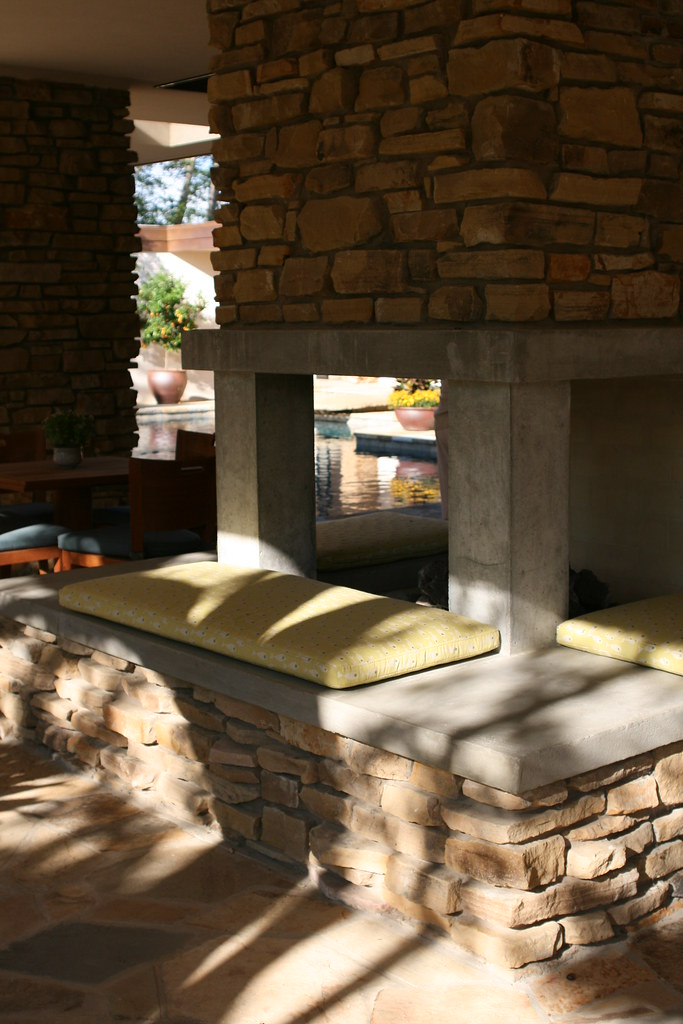 Outdoor Fireplace At Cash Home On Monday Oct 1 Gwa Conf Flickr