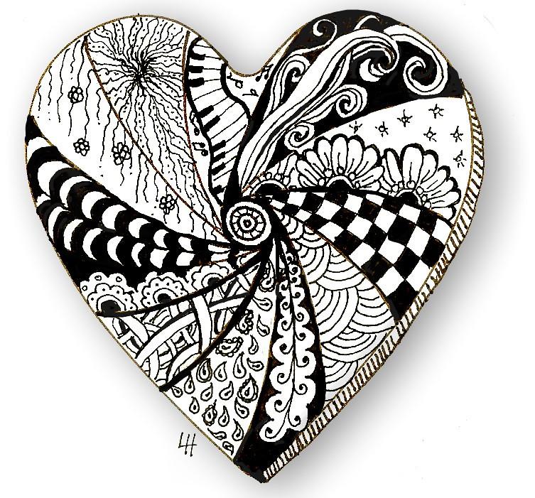 Zentangle Heart Patterns Lh Lacefairy1 Flickr