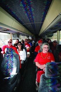 On the bus for the Alumni & Friends Association Dodger Night | by California State University Channel Islands