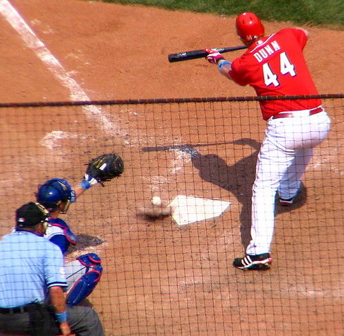 Adam Dunn bunts | by SeeMidTN.com (aka Brent)