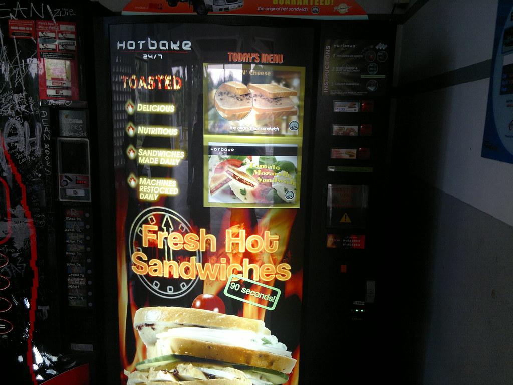 vending machine sandwich