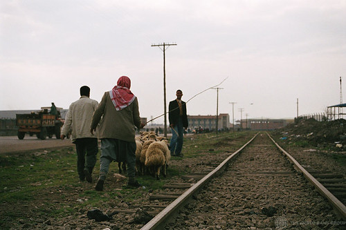 Walkig near train tracks | by World Bank Photo Collection