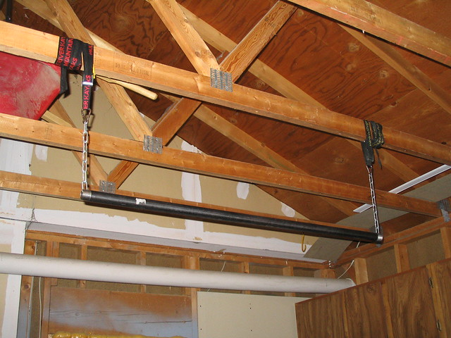 homemade pull up bar just a pipe with a chain through it flickr
