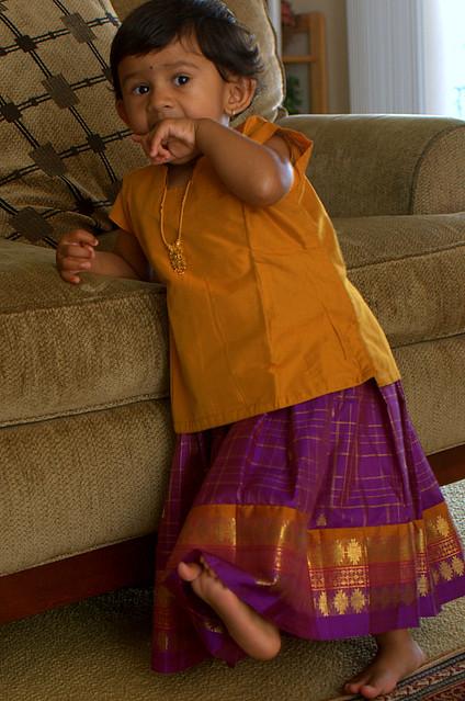Wearing A Pattu Pavadai