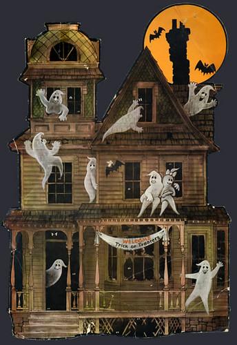 Haunted house halloween decoration 1970s secretfunspot for House decoration images
