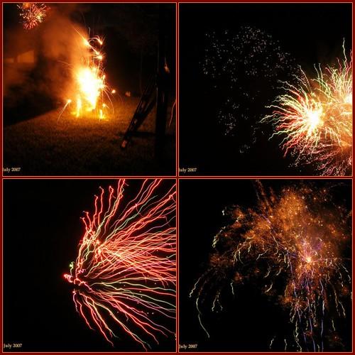 Backyard Firework Show: A Backyard Florida Fireworks Show