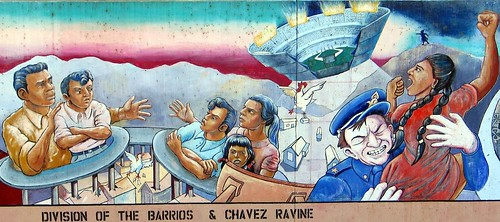 Chavez Ravine And Division Of The Barrios From The Great
