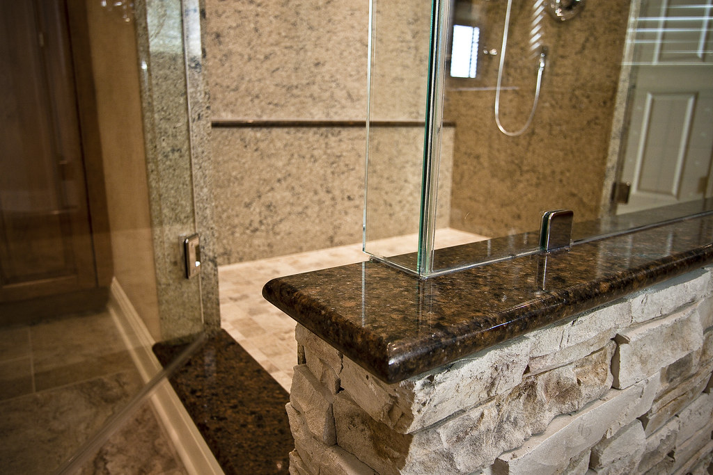 Cultured Stone Shower Wall The Entire Bathroom Was