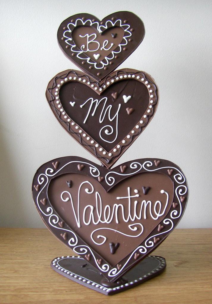 Chocolate Valentines Sculpture Chocolate Valentines