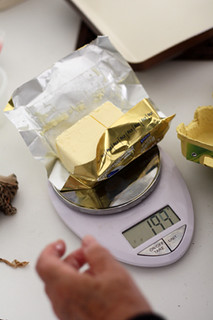 weighing butter | by David Lebovitz