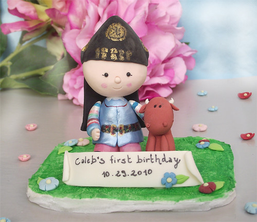 Personalized Korean Dol (1th Birthday) Cake Topper With Ox