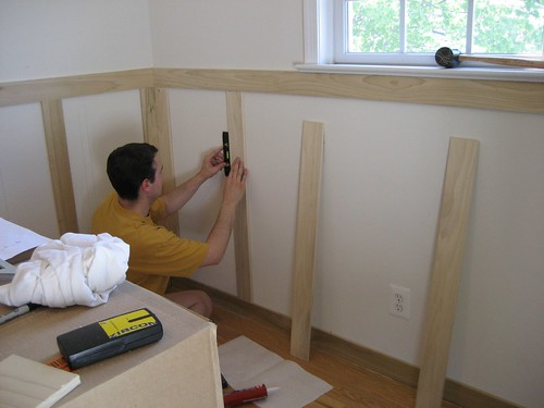 Nick Putting Up Wainscoting In Nursery Flickr Photo
